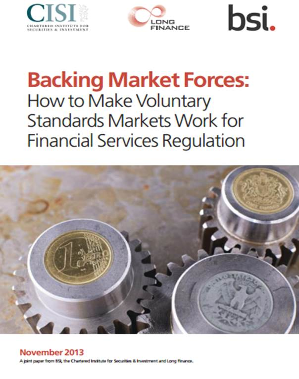 Standards play a role in rebuilding a safer and more trusted financial services sector
