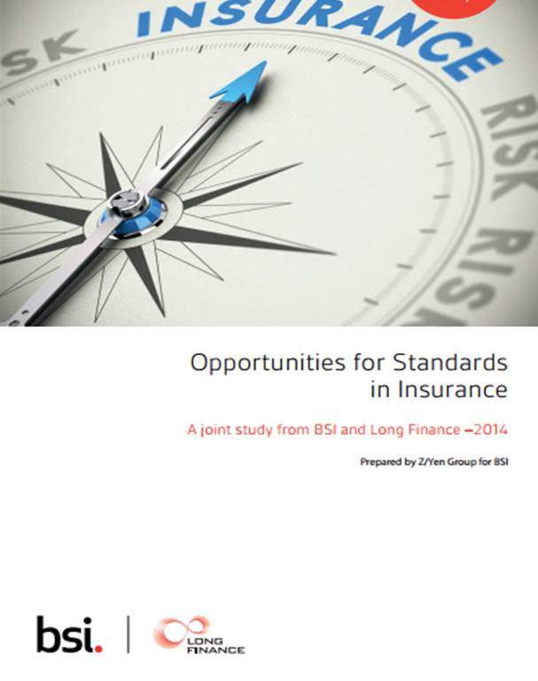 Standards needed to increase customer satisfaction and product comparability in Insurance Industry